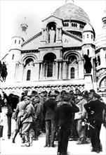German soldiers outside the Sacre Coeur, Montmartre, Paris, 10 October 1940. Artist: Unknown
