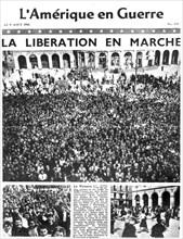 Front page of L'Amerique en Guerre newspaper, 9 August 1944. Artist: Unknown
