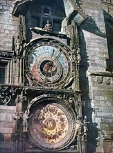Astronomical clock, Old Town Hall, Prague, Czech Republic, 1943. Artist: Unknown