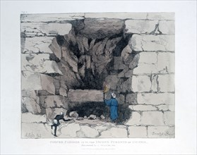 'Forced Passage in the Second Pyramid of Ghizeh', Egypt, 1820. Artist: Agostino Aglio