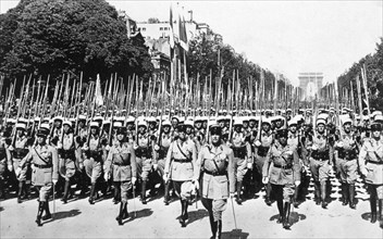 French Foreign Legion review, Paris, 14 July 1939. Artist: Unknown