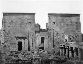 Temple of Philae, Nubia, Egypt, 1852. Artist: Maxime du Camp
