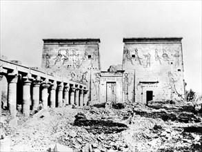 Temple of Isis, Philae, Nubia, Egypt, 1887. Artist: Henri Bechard