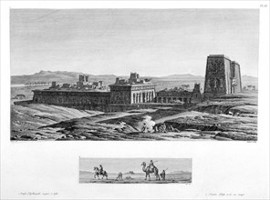 'The Temple at Apollinopolis Magna, Etfu (Edfu)', Egypt, c1808. Artist: Baltard