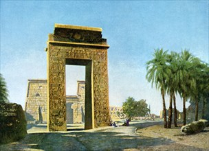 Gateway in front of the Temple of Khonsu, Karnak, Egypt, 20th Century. Artist: Unknown