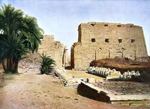 Grand Temple of Amun-Re, Karnak, Luxor, Egypt, 20th Century. Artist: Unknown