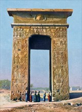 Gateway to the Temple complex of Karnak, Luxor, Egypt, 20th century. Artist: Unknown