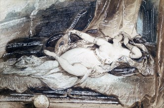 'Odalisque Couchee', c1815-1865. Artist: Eugene Deveria