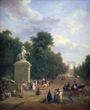 'The Entrance to the Champs-Élysées', c1804-1836. Artist: Eustache Francois Duval