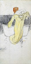 'Red-headed Woman ... in the Bathroom', c1900-1917. Artist: Raphael Kirchner