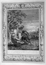 'Tithonus, Aurora's Husband, Turned into a Grasshopper', 1733. Artist: Bernard Picart