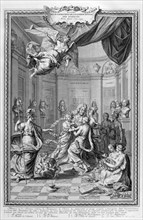 Praise of Academiciens of the Royal Academy of Science... 1728. Artist: Bernard Picart