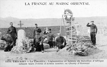 French Foreign Legion cemetery, Taourirt, Algeria, 20th century. Artist: Unknown