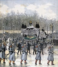 Funeral of the emperor of Brazil, 1891. Artist: Henri Meyer
