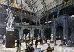 The New Sculpture Pavilion at the Palais de l'Industrie, 1892. Artist: Henri Meyer