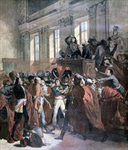 Bonaparte and the Council of Five Hundred at St Cloud, 10th November 1799, (1893). Artist: Unknown