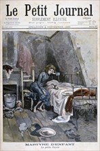 Revolte of the blind men in a hospice, France, 1904. Artist: Unknown