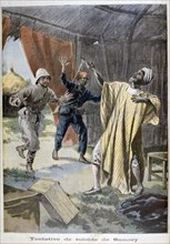 The attempted suicide of Samori Ture, 1899. Artist: F Meaulle