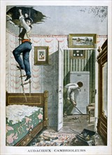 Audacious burglars, 1901. Artist: Unknown