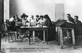 'The clothing of the prisoner of war', Champs-Élysées, Paris, World War I, 1914-1918. Artist: Unknown
