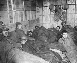 Troops at rest, Dardanelles, Turkey, 1915-1916. Artist: Unknown
