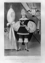 Inca prince, in Spanish costume during the time of the conquest, 16th century (1852). Artist: Jacques Francois Gauderique Llanta