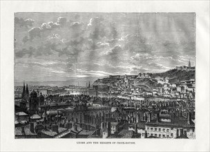 Lyon and the heights of Croix-Rousse, France, 1879. Artist: Hildibrand