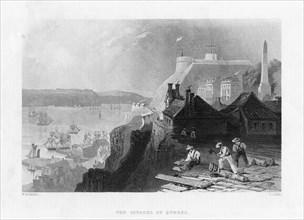 The citadel of Quebec, Canada, 19th century. Artist: E Challis