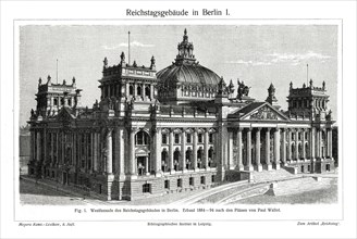 The Reichstag, Berlin, Germany, late 19th century. Artist: Unknown