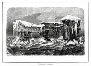 Wave-worn icebergs, 1877. Artist: Unknown