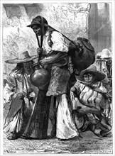 Water vendor, Mexico, 19th century. Artist: Edouard Riou