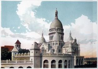 Basilica of the Sacre Coeur, Paris, c1900. Artist: Unknown