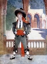 Edmund Payne in The Toreador, c1902.Artist: Ellis & Walery