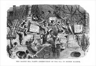 The Boston Tea Party,16 December 1773, (1872). Artist: Unknown