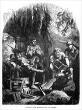 'Captain Kidd Burying his Treasures', 1872. Artist: Unknown