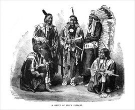 'A Group of Sioux Indians', 1872. Artist: Unknown