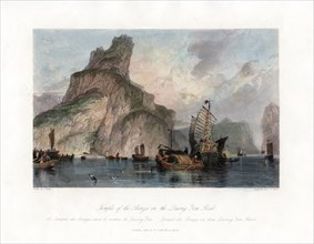 'Temple of the Bronzes in the Quang Yen Rock', China, c1840.Artist: CT Dixon