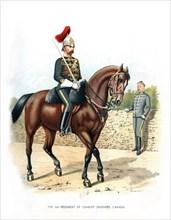 'The 6th Regiment of Cavalry (Hussars, Canada)', c1890.Artist: H Bunnett