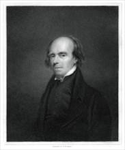 John Flaxman, British designer, draughtsman and sculptor, (1833).Artist: R Woodman