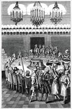 Funeral Supper, 1783, (1885).Artist: Binet