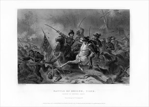 Charge of General Grant, Battle of Shiloh, Tennessee, April 1862, (1862-1867).Artist: W Ridgway