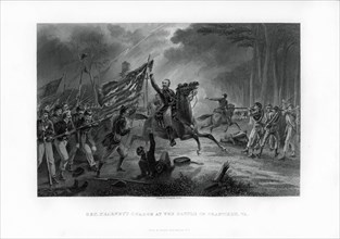 General Kearny's Charge, The Battle of Chantilly, Virginia, 1st September 1862, (1862-1867). Artist: Unknown