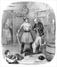 'Smugglers Alarmed', 18th century.Artist: W Clerk