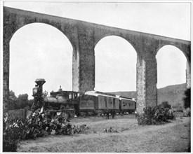 Aqueduct near Queretaro, Mexico, late 19th century. Artist: John L Stoddard