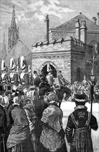 The Queen opening Parliament, 1846, (1900). Artist: Unknown