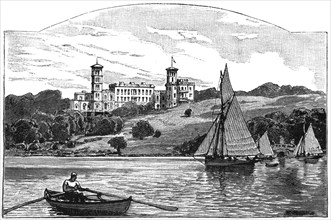 Osborne House from the Solent, East Cowes, Isle of Wight, 1900. Artist: Unknown