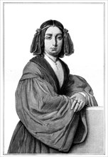George Sand (Baroness Dudevant), 19th century French novelist and feminist, (1900).Artist: Calamatta