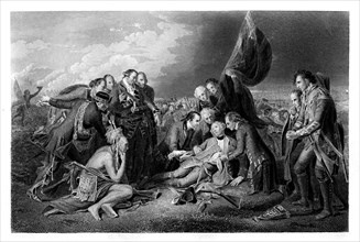 The Death of General Wolfe, 1759, (1860).Artist: S Smith