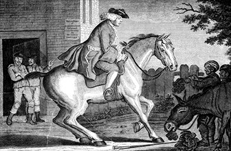 'The Taylor riding to Brentford', 1768.Artist: TS Stayner