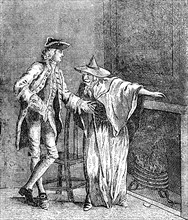 'The Gypsey conversing with ye Inspector General of Great Britain,' c1753. Artist: Unknown